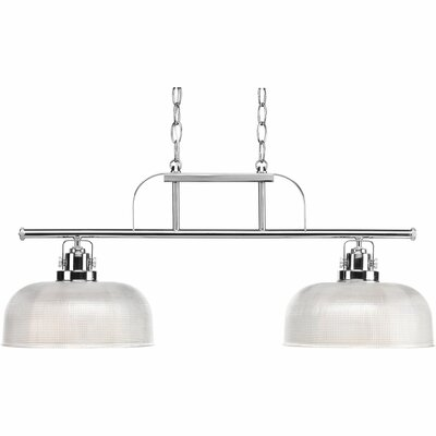 Gotha 2-Light Kitchen Island Pendant Color: Polished Chrome