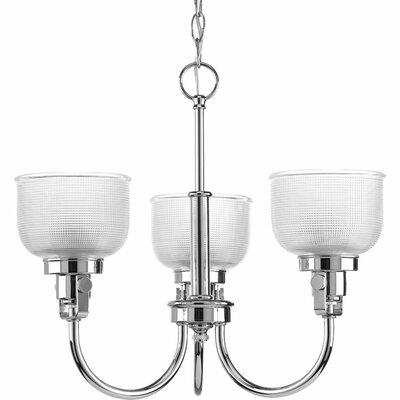 Gotha 3-Light Shaded Chandelier Color: Chrome