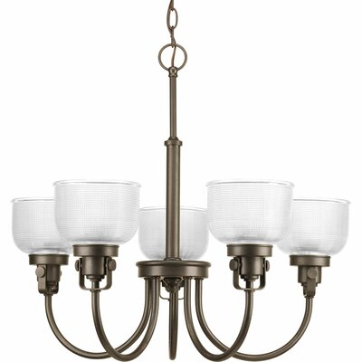 Gotha 5-Light Shaded Chandelier Finish: Venetian Bronze