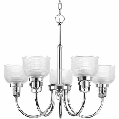 Gotha 5-Light Shaded Chandelier Finish: Chrome