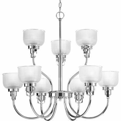 Gotha 9-Light Shaded Chandelier Finish: Chrome