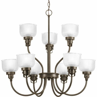 Gotha 9-Light Shaded Chandelier Color: Venetian Bronze