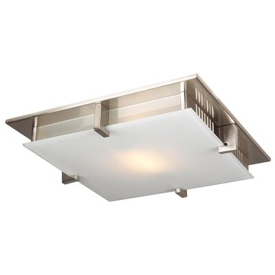 Birdie Semi Flush Mount Finish / Size / Bulb Type: Satin Nickel / 16 / J118mm