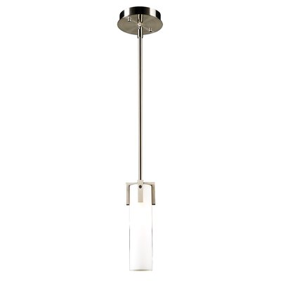 Birdie 1-Light Mini Pendant Bulb Type: Incandescent, Finish: Satin Nickel