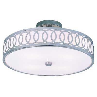Goldy 4-Light Semi Flush Mount