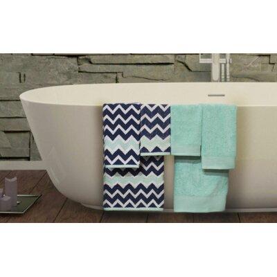 Nebula 6 Piece Towel Set Color: Denim / Aqua