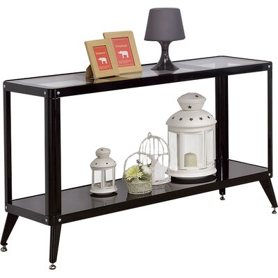 Timycha Console Table Finish: Black