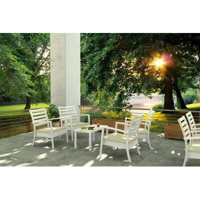 Nikoleta 7 Piece Arm Chair Seating Group Finish: White