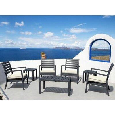 Nikoleta 7 Piece Arm Chair Seating Group Finish: Dark Gray