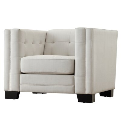 Vidette Square Tufted Upholstered Arm Chair
