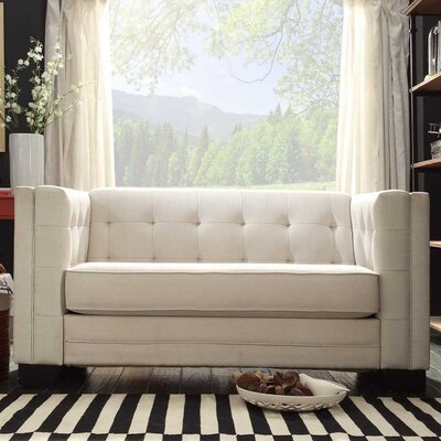 Oliver Tufted Upholstered Chesterfield Loveseat