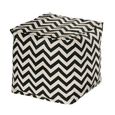 Nehemiah Cube Ottoman Upholstery: Black