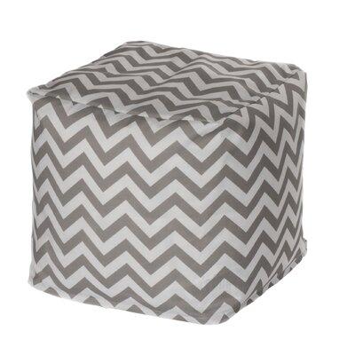 Nehemiah Chevron Pouf Ottoman Upholstery: Grey