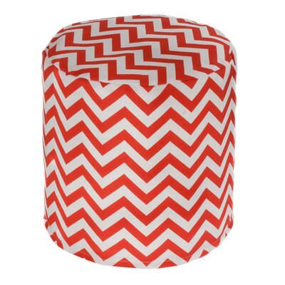 Nehemiah Chevron Bean Bag Ottoman Upholstery: Orange