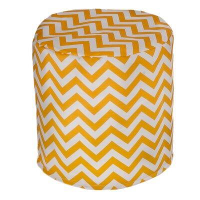 Nehemiah Chevron Bean Bag Ottoman Upholstery: Yellow