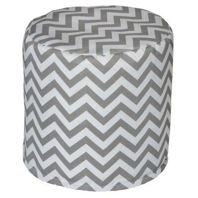 Nehemiah Chevron Bean Bag Ottoman Upholstery: Grey