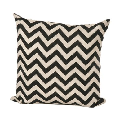 Nehemiah Chevron Outdoor Throw Pillow Color: Black