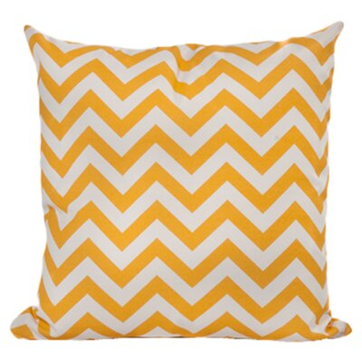 Nehemiah Chevron Outdoor Throw Pillow Color: Yellow