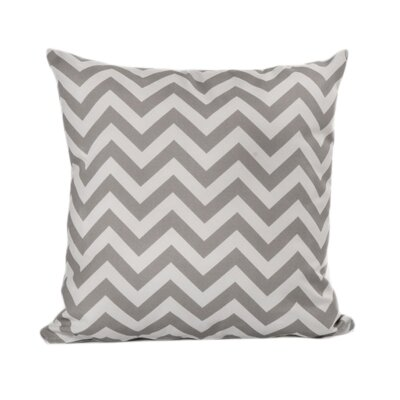 Nehemiah Chevron Outdoor Throw Pillow Color: Grey