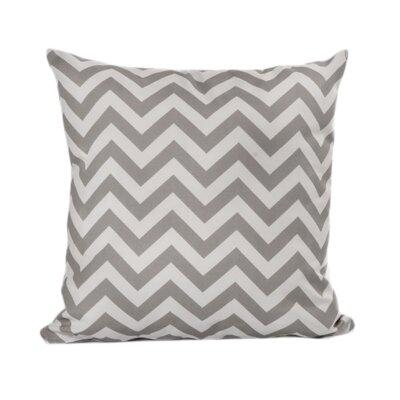 Nehemiah Chevron Outdoor Throw Pillow Color: Grey