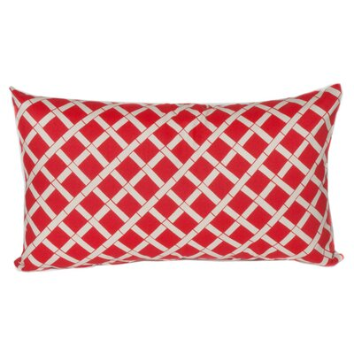 Arellano Lumbar Outdoor Pillow Color: Red