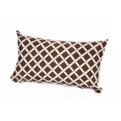 Arellano Lumbar Outdoor Pillow Color: Brown