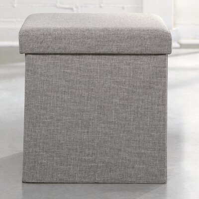 Longley Ottoman Color: Light Gray Linen