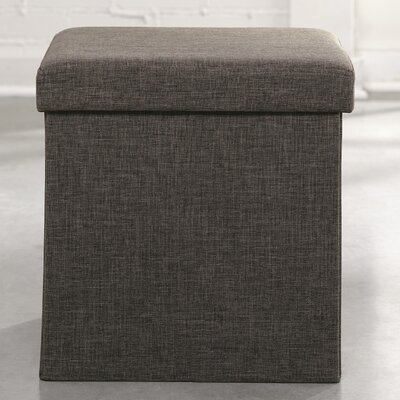 Longley Ottoman Color: Dark Gray Linen