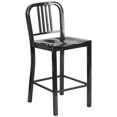 Pinedale 24 Bar Stool (Set of 2) Finish: Black