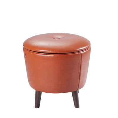 Lansing Storage Ottoman Upholstery: Orange