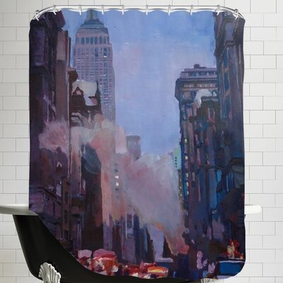 NYC Street Scene Empire State Buildingg 2 Shower Curtain