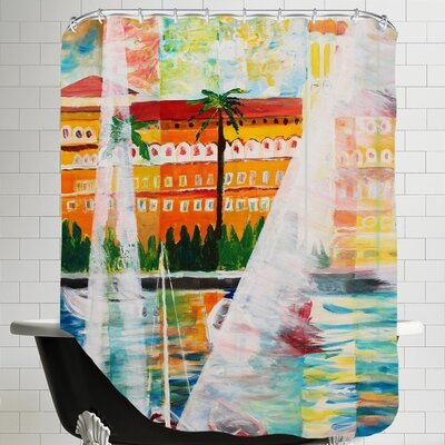 Grand Hotel in Gardone Riviera in Sunlight Shower Curtain