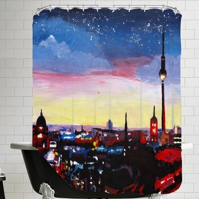 Berlin 3 Shower Curtain