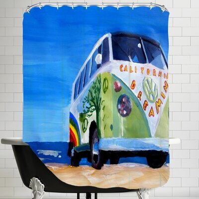 The California Dreaming Surf Bus Shower Curtain