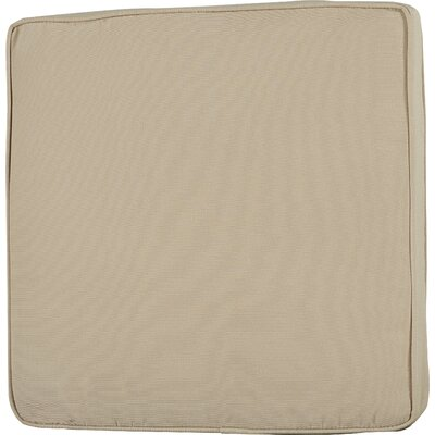 Outdoor Sunbrella Dining Chair Seat Cushion Size: 20 W x 20 D, Fabric: Antique Beige