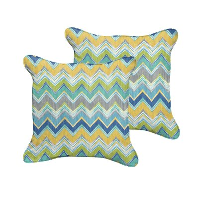 Acton Turville Outdoor Throw Pillow Size: 22 H x 22 W, Color: Pacific