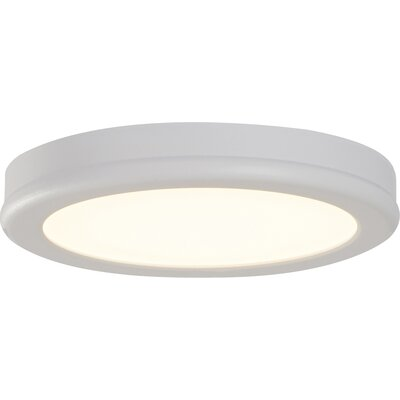 Stanwyck 1-Light Flush Mount Finish: White, Bulb Color Temperature: 2700K, Size: 0.88 H x 6 W x 6 D