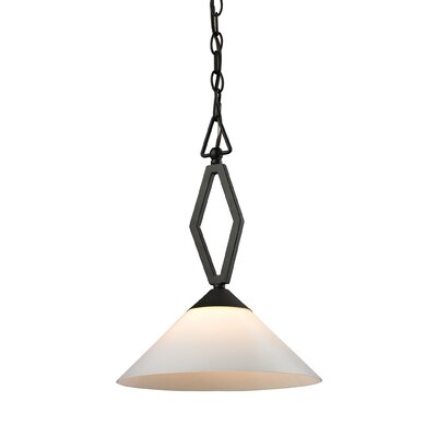 Abrielle 1-Light Bowl Pendant Base Finish: Oil Rubbed Bronze