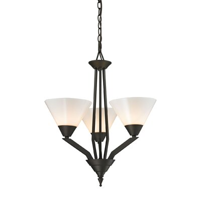 Abrielle 3-Light Shaded Chandelier Finish: Oil Rubbed Bronze