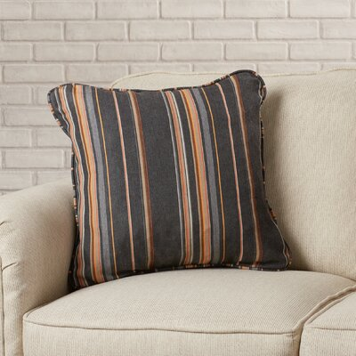 Midford Indoor/Outdoor Throw Pillow Size: 22 H x 22 W, Fabric: Multi-Colored Stripes