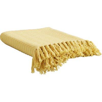 Pyxis Cotton Throw Blanket Color: Yellow