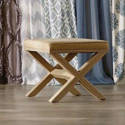 Leia Ottoman Upholstery: Biscuit Beige