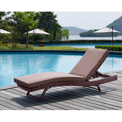 Rebecca Patio Lounger with Cushion Fabric: Sand