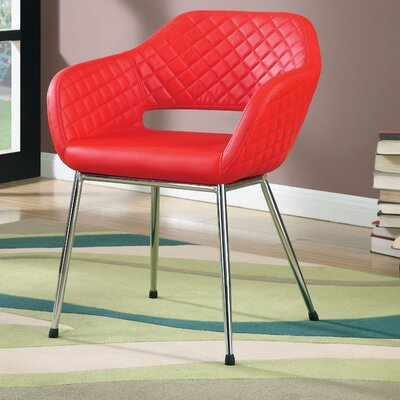 Macie Armchair Color: Red
