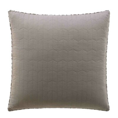 Damalis Quilted European Sham Color: Mink