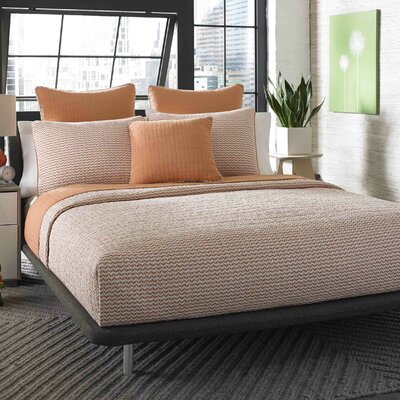 Damalis Reversible Quilt Set Size: Twin, Color: Apricot
