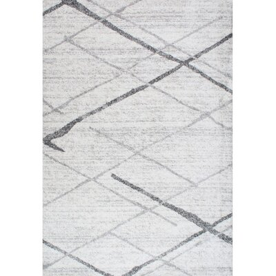 Azha Broken Light Gray Area Rug Rug Size: 76 x 96