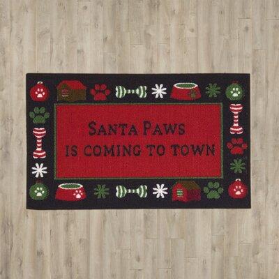 Eucleides Santa Paws Doormat
