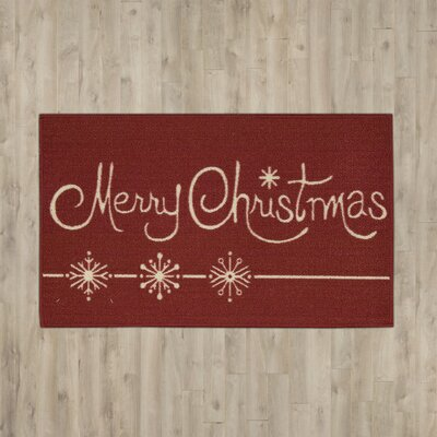 Etruscan Merry Christmas Doormat