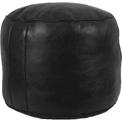 Neasa�Fez Leather Pouf Upholstery: Black